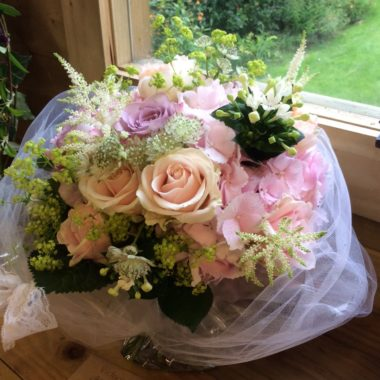 Romantic pale pink bouquet for a special memory